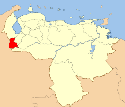Tachira State in red