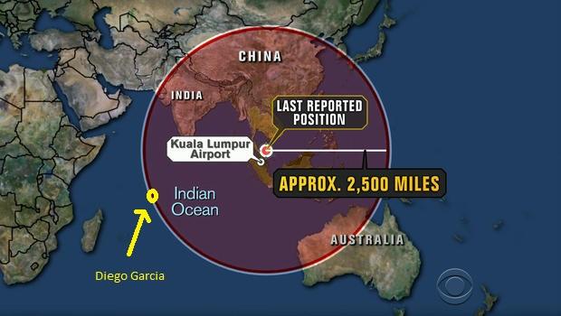 MH370: i dati INMARSAT dimostrano che è a Diego Garcia